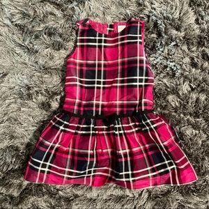 Gymboree Girls Dropped Waist Plaid Dress